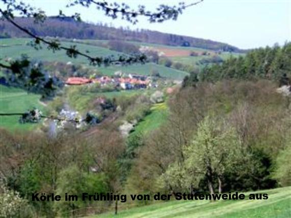 Körle im Frühling v.d. Stutenweide aus gesehen