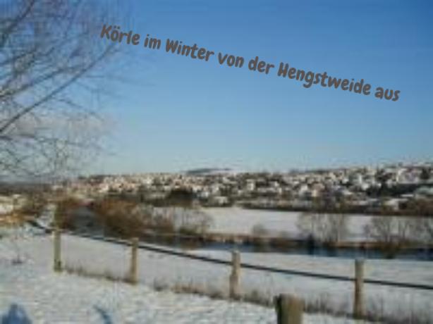 Körle im Winter v.d. Hengstweide aus gesehen